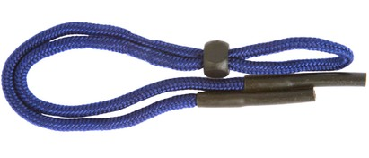 Angle of Solid Color Neck Cord #5 in Blue, Women's and Men's  Neck Cords