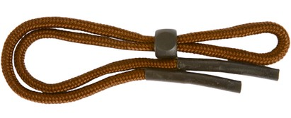 Angle of Solid Color Neck Cord #5 in Brown, Women's and Men's  Neck Cords