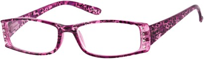 Angle of The Countess in Purple Leopard, Women's Rectangle Reading Glasses