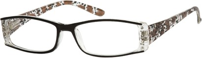 Angle of The Countess in Black/Brown Leopard, Women's Rectangle Reading Glasses
