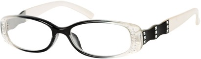 Angle of The Shelley in Clear/White, Women's and Men's