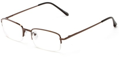 Angle of The Meade in Bronze, Women's and Men's Rectangle Reading Glasses