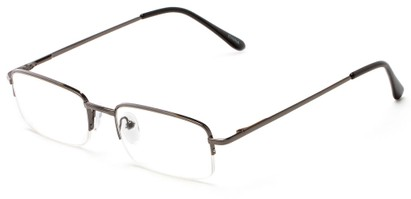 Angle of The Meade in Grey, Women's and Men's Rectangle Reading Glasses