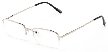 Angle of The Meade in Silver, Women's and Men's Rectangle Reading Glasses