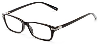 Angle of The Ingrid in Black, Women's Cat Eye Reading Glasses