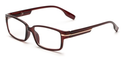 Angle of The Gus in Brown, Women's and Men's Rectangle Reading Glasses