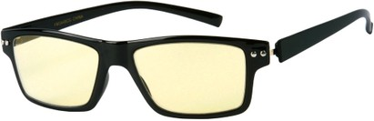 Angle of The Casper Flexible Computer Glasses in Glossy Black, Women's and Men's