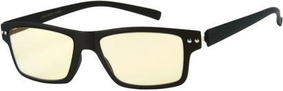 Angle of The Casper Flexible Computer Glasses in Matte Black, Women's and Men's