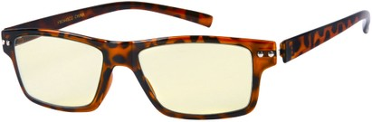 Angle of The Casper Flexible Computer Glasses in Glossy Brown Tortoise, Women's and Men's