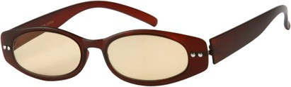 Angle of The Dover Flexible Computer Reader in Matte Red, Women's and Men's Oval Reading Glasses