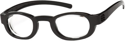 Angle of FocusSpecs Adjustable Focus Reader in Black, Women's and Men's Retro Square Reading Glasses