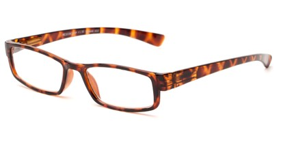 Angle of The Frasier in Tortoise, Women's and Men's Rectangle Reading Glasses