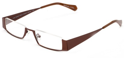 Angle of The Jamestown in Bronze, Women's and Men's Rectangle Reading Glasses