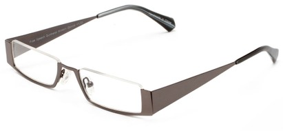 Angle of The Jamestown in Grey, Women's and Men's Rectangle Reading Glasses