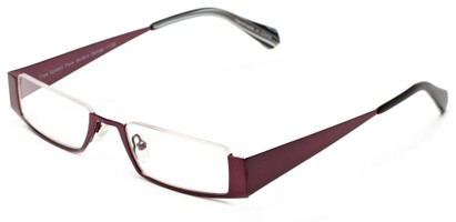 Angle of The Jamestown in Plum Purple, Women's and Men's Rectangle Reading Glasses