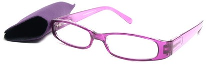 Angle of The Avery Eco-Friendly Reader in Purple, Women's and Men's