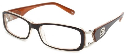 Angle of The Devin in Brown and Orange Frame, Women's and Men's