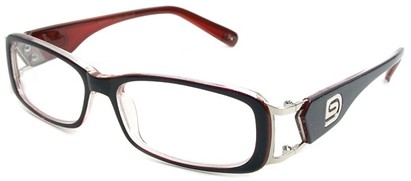 Angle of The Devin in Black and Red Frame, Women's and Men's