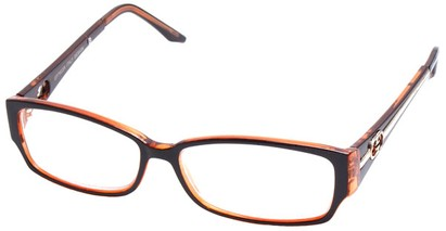Angle of The Tiffany in Brown and Orange Frame, Women's and Men's