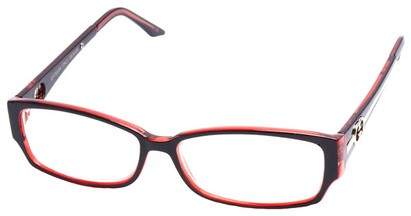 Angle of The Tiffany in Brown and Red Frame, Women's and Men's