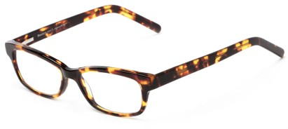 Angle of The Claremore Signature Reader in Brown Tortoise, Women's and Men's Retro Square Reading Glasses
