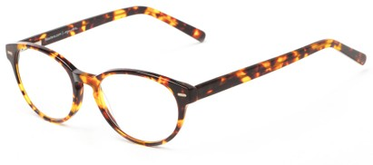 Angle of The Pontiac Signature Reader in Brown Tortoise, Women's and Men's Round Reading Glasses