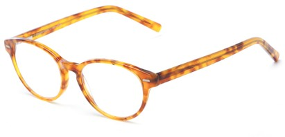 Angle of The Pontiac Signature Reader in Tan Tortoise, Women's and Men's Round Reading Glasses