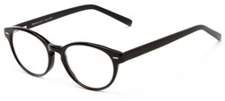 Angle of The Pontiac Signature Reader in Black, Women's and Men's Round Reading Glasses
