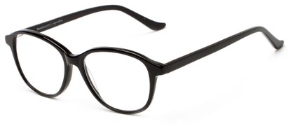 Angle of The Baxter Signature Reader in Black, Women's and Men's Square Reading Glasses