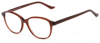 Angle of The Baxter Signature Reader in Brown, Women's and Men's Square Reading Glasses