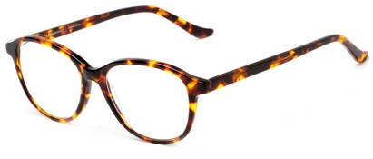 Angle of The Baxter Signature Reader in Brown Tortoise, Women's and Men's Square Reading Glasses