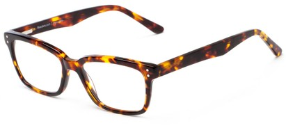 Angle of The Chandler Signature Reader in Tortoise, Women's and Men's Retro Square Reading Glasses