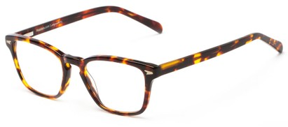 Angle of The Rialto Signature Reader in Brown Tortoise, Women's and Men's Retro Square Reading Glasses