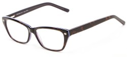 Angle of The Galena Signature Reader in Tortoise/Purple, Women's Cat Eye Reading Glasses