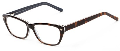 Angle of The Galena Signature Reader in Tortoise/White, Women's Cat Eye Reading Glasses