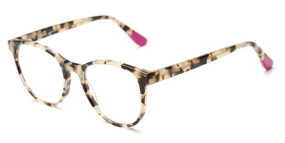 Angle of The Getty Signature Reader in Pink/Tan Tortoise, Women's and Men's Round Reading Glasses