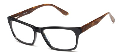 Angle of Glen by felix + iris in Black + Marbled Brown, Men's Retro Square Reading Glasses
