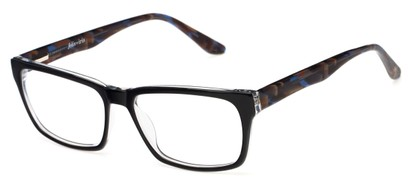 Angle of Glen by felix + iris in Black + Marbled Navy, Men's Retro Square Reading Glasses
