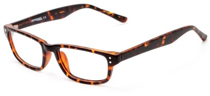 Angle of The Banks Customizable Reader in Matte Tortoise, Women's and Men's Retro Square Reading Glasses