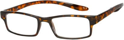 Angle of The Boise Hanging Reader in Glossy Tortoise, Women's and Men's Rectangle Reading Glasses