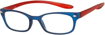 Angle of The Buckingham  in Matte Blue/Red, Women's and Men's