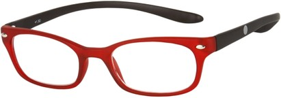 Angle of The Buckingham  in Matte Red/Black, Women's and Men's