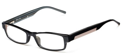 Angle of The Hawthorne Customizable Reader in Black, Women's and Men's Rectangle Reading Glasses