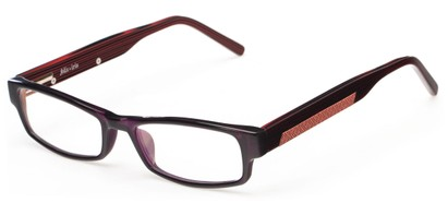Angle of The Hawthorne Customizable Reader in Maroon, Women's and Men's Rectangle Reading Glasses