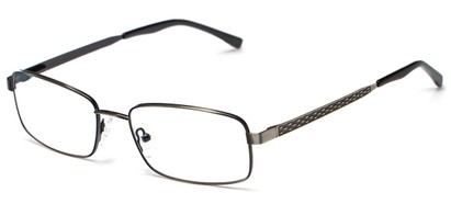 Angle of Hudson by felix + iris in Gunmetal, Men's Rectangle Reading Glasses