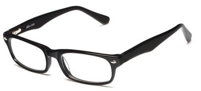 Angle of The Irvington Customizable Reader in Black, Women's and Men's Rectangle Reading Glasses