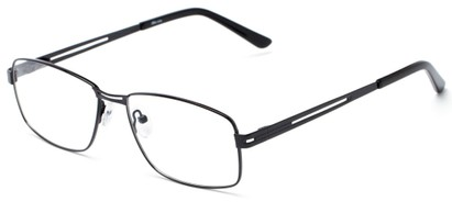 Angle of The Irwin Customizable Reader in Black, Women's and Men's Square Reading Glasses