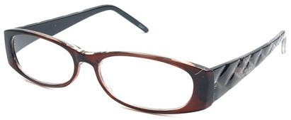 Angle of The Brianna in Brown and Black Frame, Women's and Men's