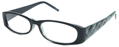 Angle of The Brianna in Black and Green Frame, Women's and Men's