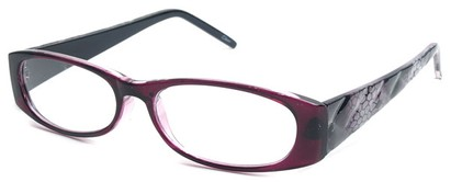Angle of The Brianna in Purple and Black Frame, Women's and Men's
